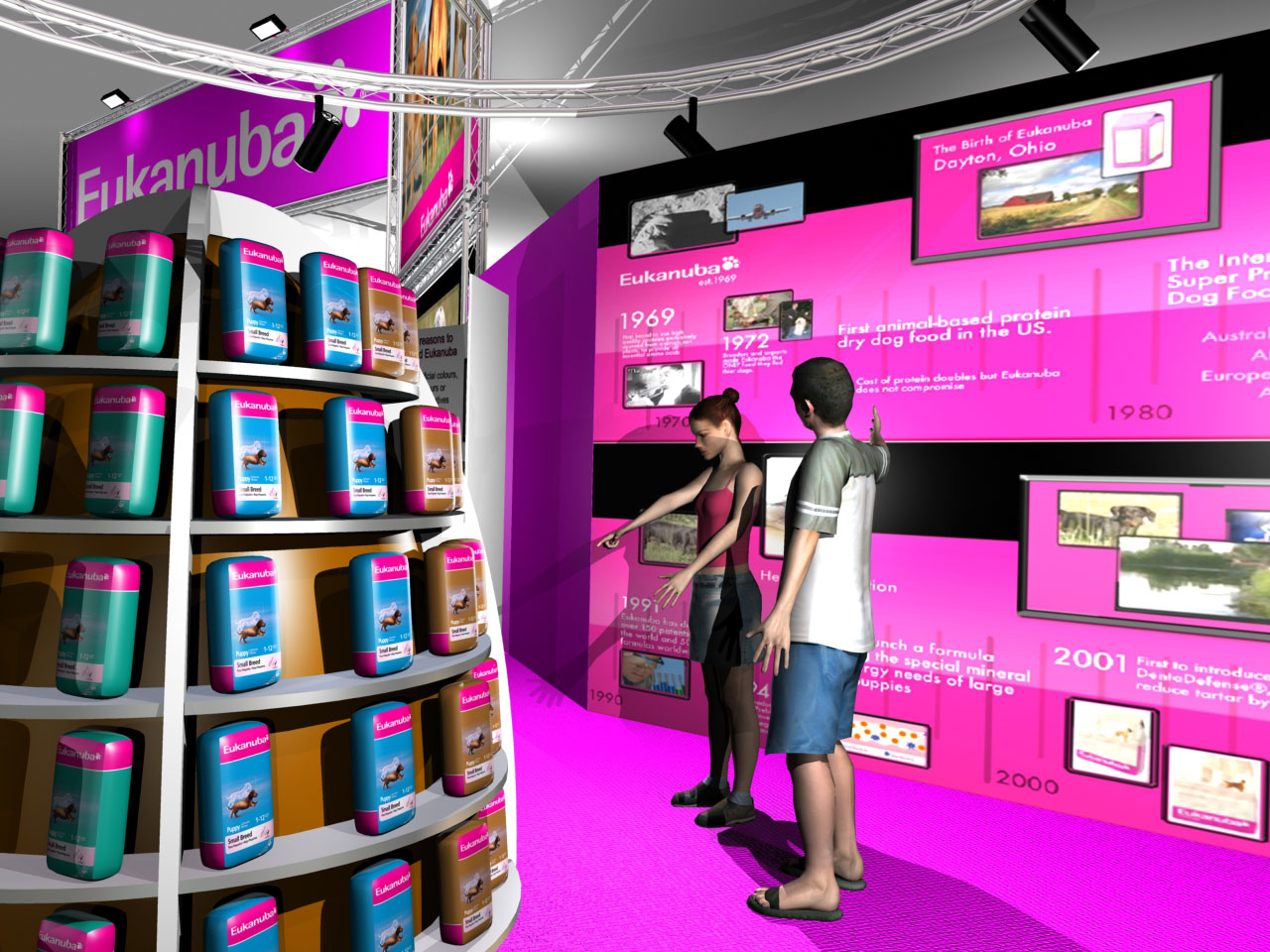 Exhibition Stand Visuals : Exhibition stand visuals iams eukanuba wordsearch ltd