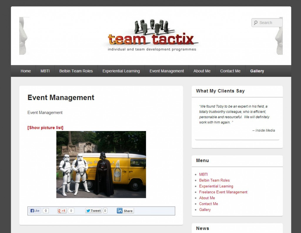 Website Design Team Tactix